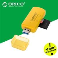 Wholesale ORICO CTU33 OR Mini USB3 Dual Card Reader support SD TF with Multifunctional Design ORANGE