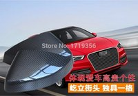 audi side cover - Carbon Fiber Side Mirrors Rearview Cover Exterior Trim pair Fit For Audi A3 S3