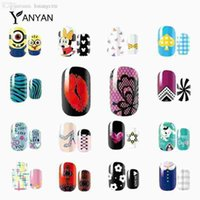 Wholesale New Design Nail Patch sheets Lace Kiss Cute Cartoon Nail Art Polish Sticker Full Cover Adhesive Nail Foil Wraps Decals