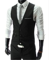 Wholesale New Arrival Dress Vests For Men Slim Fit Mens Suit Vest Male Waistcoat Gilet Homme Casual Sleeveless Formal Business Jacket