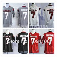 authentic college football jersey - Factory Outlet Cheap South Carolina Gamecocks White Grey Red Black Ncaa Jadeveon Clowney College Authentic Football Jerseys Sewn On Jers