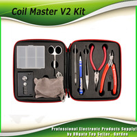 Wholesale Newest coil master v2 kit DIY tool bag coil winder Coil Master Tool Kit For RDA RBA Atomizer ecigs DHL free