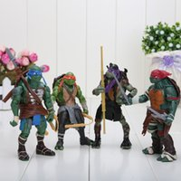 Wholesale 4pcs set Teenage Mutant Ninja Turtles Classic Collection TMNT Movie TV Figures Toys Children s Gift Sets