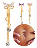 Wholesale 2015 New Style SEXY SUMMER JEWELRY bowknot bar belly piercing Bell Button Rings