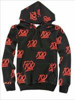 Emojis roupas Preços-nova moda Emoji camisas Women / Men / Boy / Girl 3d 100 centena de impressão pontuação Emojis hoodies moletom basculador frete grátis preto roupa
