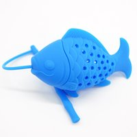 Wholesale Creative Fishing Design Food Grade Silicone Tea Strainer Filter Infusers Balls Accessories Y60 SS1095 M5