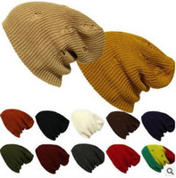 Wholesale Retro Bardian Knit Hat With Hole Autumn Winter Keep Warmer For Unisex Outdoor Hiphop Beanie Hat For Boy Mix