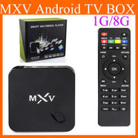Cheap 2015 Newest MXV Smart Android 4.4 TV BOX MXQ S805 Quad Core 1.5GHZ 1G 8G 2.4GHZ Wifi IPTV 20-2DH OTH126