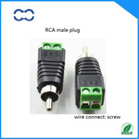 av cable connectors - High Performance and ROHS Brand New AV RCA Male Connector Plug for Audio Cable