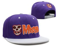 Wholesale HOT MISFITS snapback cap most fashion Skull pattern sport baseball caps styles street hip hop hat