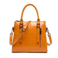large handbags - 2015 new large capacity bag ladies handbag simple leather handbag shoulder bag Fashionable bag Messenger bag