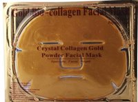 Wholesale 50pcs Gold Bio Collagen Facial Mask Face Mask Crystal Gold Powder Collagen Facial Mask Moisturizing Anti aging free ship