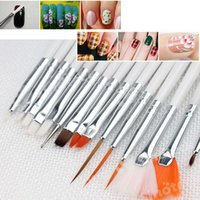 Wholesale 15pcs Set Makeup Brushes Professional Gel Polish Painting Nail Flower Art Pen Dotting Drawing Tool For Natural False D Beauty Free DHL