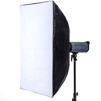 Wholesale 60 cm quot quot Softbox Diffuser with Bowens Bracket Holder for Speedlite Flash Light Black and White D1601