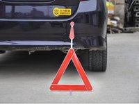aluminum safety signs - Rushed Strap Heavy Duty Vehicle Safety Warning Signs emergency folding Reflector Triangle Three Foot Box Aluminum Single