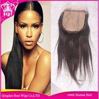 Cheap silk base closure brazilian hair Best cheap silk base closure
