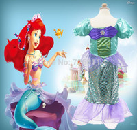 baby athletic clothes - New Kids Girl Cosplay Costume Baby Girl The Little Mermaid Ariel Princess Costume Kids Perform Clothes Fantasias Vestidos
