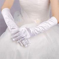 Wholesale Women Long Stretch Satin Bridal Glove Prom Opera Evening Wedding Costume Gloves