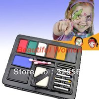 adult body paint - Face Body Paint Camouflage Theatrical Party Cosplay Halloween Pack Kit Painting Make up Set Adults