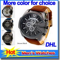 best green business - Best Selling Luxury Top Brand Leather Straps Mens Watches Fashion Sports Quartz Watch Business Casual Wristwatch