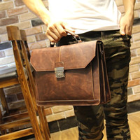 Wholesale 2016 new fashion brand PU Leather Men s Briefcase bag Business Handbag Men Multifunction shoulder messenger bag travel bag
