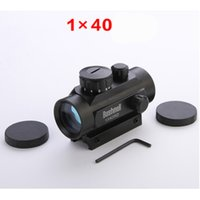 riflescopes red dot - New riflescopes hunting rifle tactical scope brand x40 Red Green Dot Sight Scope Weaver Mounts MOA Airsoft Rifle Optica aimpoint