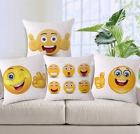 Wholesale 50 LJJH547 Cute Lovely Emoji Smiley Pillow Case Cartoon Cushion Pillows CM Car Pillow Case