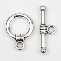 toggle clasps - MIC New Tibetan Silver Smooth X15mm Ring Toggles Clasps Jewelry Findings Components for Necklace and Bracelets DIY