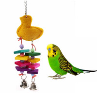Wholesale 1Pcs Colorful Bird Chewing Toys Cage Swing Bites Pet Parrot Toy Parakeet Budgie Playing Supplies