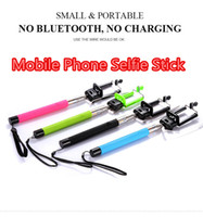 Wholesale Profissional Grooves On Selfie Stick Mobile Phone Camera Selfie Tripod Screw Extendable Portrait Handheld Selfie Monopod Retail Package