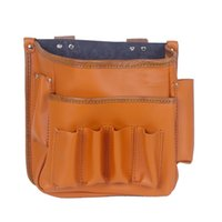 Wholesale Leathercraft Leather Electricians Carpenter Hardware Tool Pouch Bag Moulti pocket