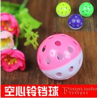 Wholesale 50PCS Pet Product Pet Toys Cat Toys Playing Ball Will Bell Funny Hot Sale