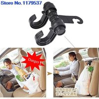 Wholesale 2015 new New Car Seat hooks Double Hooks Coat Purse Shopping Bag Organizer Holder Plastic Hanger