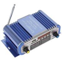Wholesale 2 Channels Hi fi Mini Digital Motorcycle Auto Car Stereo Power Amplifier Sound Mode Audio Music Player Support USB FM SD CEC_818