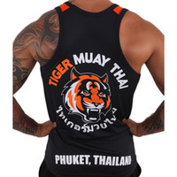Wholesale Black Tiger Muay Thai MMA training vest breathable absorbent hayabusa mma muay thai clothing bad boy mma man boxing shorts jaco