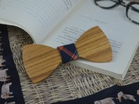 railroad ties - High Quality Cheapest Bow Tie Piece Bow Tie Wooden Bow Ties ties for wedding Wood Railroad ties Personality handcrafted Gentleman ties
