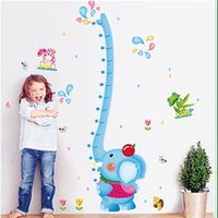 art wall fountains - Choi fly removable wall stickers cartoon children height stickers nursery furniture decoration elephant fountain height stickers