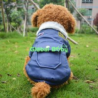 air force accessories - Pieces USA Air Force Uniform Style Dog Coat Two Legs Thicken Jacket Clothes for Pets Dogs with Fur Collar