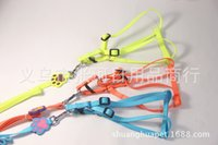 Wholesale 1 nylon color fluorescent chest strap Pet chest straps traction dog leash dog collar with a rope