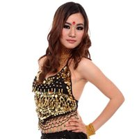 belly dance shop - Hot sale Belly dancing Stage Dance Wear pearl suits Sexy vest Free Shopping
