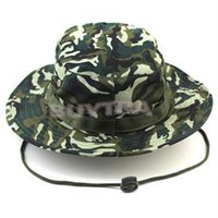 Wholesale 2015 Hot Sale Fashion Outdoor Sports Military Camping Hiking Camo Cover Wide Brim Camouflage Bucket Hat Sunshade Casual Caps