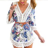 belt with fringe - Floral brand Chic Lady Women Boho Hippie Gypsy Festival Fringe Lace mini Dress Tops With Vest summer style Free Belt Vestidos