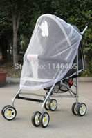 Wholesale White Buggy Infant Pram Protector Pushchair Stroller Mosquito Net Fly Midge Insect Bug Cover Mesh Netting