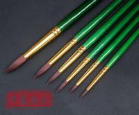 advance lever - Long lever green rod advanced high elastic nylon round toe propylene oil painting pen