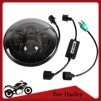 Wholesale 7 quot Motorcycle LED Headlight Hi Lo Projector Daymaker Light w Front Head Lamp High Low Beam IP For Harley Davidson order lt no track