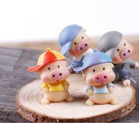 bamboo equipment - E micro world micro moss landscape equipment McDull cartoon pig doll ornaments ornaments DIY materials