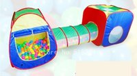 Wholesale Children Folding Game Room Boy Girl Portable Colorful Game Room Tunnel Design Play Big Tent Toy Playhouse