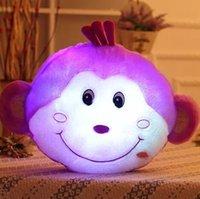 best pillow brands - Brand New Glowing Monkey Soft Glow Monkey Light LED Luminous Stuffed Plush Toy Dolls Cushion Pillow Best Gift for Kids YZT0127