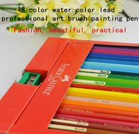 Wholesale Authentic German Faber Castell water soluble colored pencil color water color lead professional art brush painting pen Q