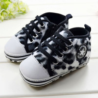 Wholesale Spring Autumn Baby First Walker Shoes Toddler Shoes Black Leopard Star Infant Shoes new born baby boy shoes